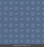 2017 globales Geschäfts-nahtlose Muster-Konzept-Reihe 03 Lizenzfreies Stockfoto