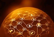 Globales Geschäfts-Netz Lizenzfreie Stockfotografie