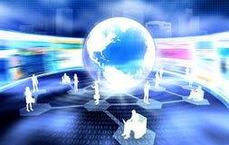 Globales Geschäfts-Netz Stockfoto