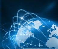 Globales Geschäfts-Netz Stockbilder