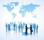 Globales Geschäfts-Vereinbarungs-Vektor Lizenzfreie Stockfotos