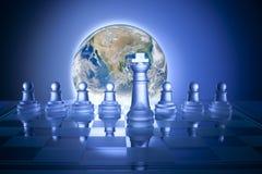 Globales Geschäftsstrategie-Schach stockfotografie