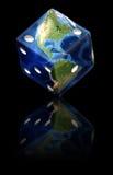 Globales Glücksspiel lizenzfreie abbildung