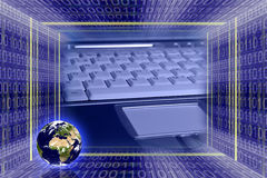 Globales Informationen technologie Lizenzfreies Stockfoto
