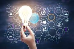 Globales Innovationskonzept stockfotos