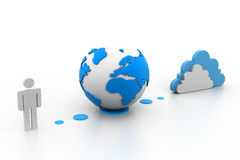 Globales Internet stock abbildung
