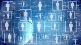 Globales Internet und Telekommunikation, wachsende Zahl von Benutzern, Technologien vektor abbildung