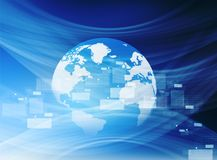 Globales Internetanschlusskonzept Stockfotos
