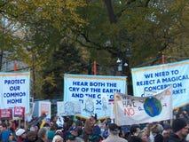 Globales Klima März und Sammlung-neue York-Stadt, NY USA Stockbild