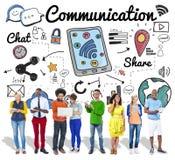 Globales Kommunikationstechnik-Verbindungs-Konzept lizenzfreie stockfotos