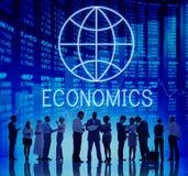 Globales Konzept Handelsunternehmen Economics Corporation Lizenzfreies Stockfoto