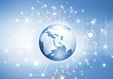 Globales Netz Stockbild