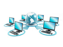 Globales Netzwerk Lizenzfreie Stockfotos
