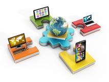 Globales Netzwerk Stockfotos
