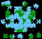Globales Puzzlespiel Stockfoto