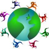 Globales Rennen lizenzfreie abbildung
