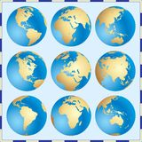 Globales Set Stockfoto