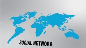 Globales Sozialnetz stock video footage