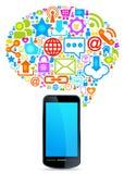 Globales Sozialnetztelefon Lizenzfreie Stockfotografie