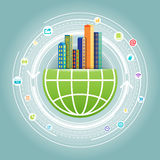 Globales Stadtnetz Lizenzfreies Stockbild
