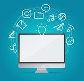 Globales Technologieentwicklungskonzept Lizenzfreies Stockfoto