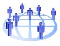 Globales Teilnehmernetz Lizenzfreie Stockfotografie