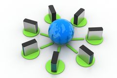 Globales Vernetzungskonzept Lizenzfreie Stockfotos