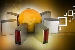 Globales Vernetzungskonzept Stockfotos