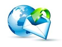 Globales Verschiffen-und Kommunikations-eMail-Konzept lizenzfreie abbildung