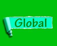 Globales Wort stellt weltweit oder über The Globe dar Lizenzfreie Stockfotos