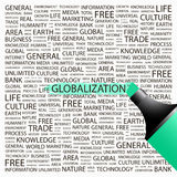 GLOBALISERING. royalty-vrije illustratie