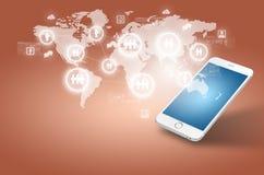 Globalisering of de Sociale achtergrond van het netwerkconcept royalty-vrije stock foto's