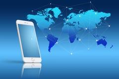 Globalisering of de Sociale achtergrond van het netwerkconcept met nieuw gen stock fotografie