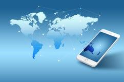Globalisering of de Sociale achtergrond van het netwerkconcept met nieuw gen stock foto