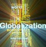 Globalisering die wordcloud gloeit vector illustratie