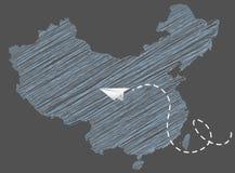Globalisering en de Illustratie van het Luchtvaartlijnconcept vector illustratie