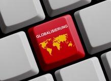 Globalisering online het Duits royalty-vrije stock foto