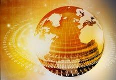 Globalisering van vezeloptica vector illustratie