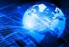 Globalisering van vezeloptica stock illustratie