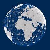 Globalisering, wereldmededelingen - vector vector illustratie