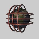 Globalisierung - 3D Lizenzfreie Stockfotografie