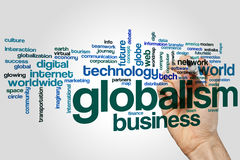 Globalism word cloud. Concept on grey background Stock Photos
