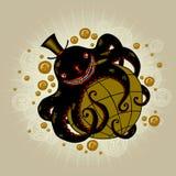 Globalisme: octopus het opwekken Wereld Bedrijven en hun effect op wereld Stock Afbeelding