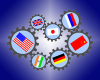 Globalização Foto de Stock