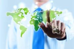 Globalização dos meios Foto de Stock