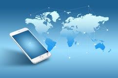 Globalizacja lub socjalny sieci pojęcia tło Zdjęcia Royalty Free