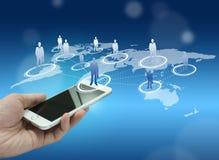 Globalizacja lub socjalny sieci pojęcia tło Zdjęcia Stock
