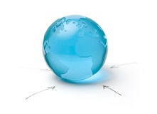 Globalization. Concept of globalization, worldwide influence and global communication Stock Photography