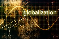 Globalization. Abstract Background Wallpaper in Orange and Graph stock illustration