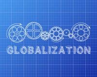 Globalization Blueprint Royalty Free Stock Photo